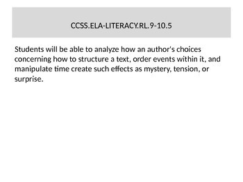 """Common Core Standards for ELA 9-10 in """"Students Will Be Able To"""" Format"""