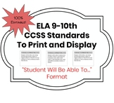 "Common Core Standards for ELA 9-10 in ""Students Will Be Ab"