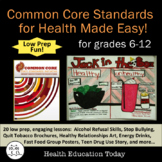 Common Core Standards for Health Made Easy: 20 Full Lessons to Meet Standards!