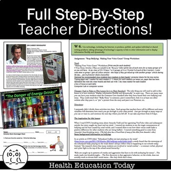 Common Core Health Lessons Made Easy: 20 Full Lessons to Meet Standards!