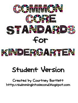 Common Core Standards for Kindergarten