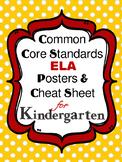 ELA Common Core Standards for Kindergarten