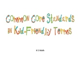 Common Core Standards for Math in Kid-Friendly Terms