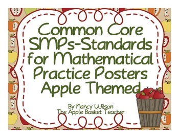 Common Core Standards for Mathematical Practice Apple Themed Posters
