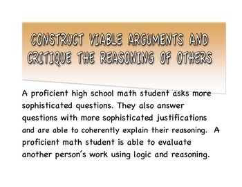 Common Core Standards for Mathematical Practice Posters