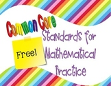 Common Core Standards for Mathematical Practice in I Can Statements
