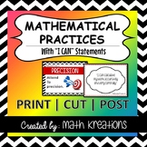 """Common Core Standards for Mathematical Practices & """"I Can"""" Statements 