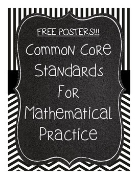 Common Core Standards for Mathematical Thinking Posters- FREE