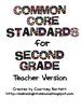 Common Core Standards for Second Grade