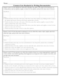Common Core Standards for Writing Assessment/Documentation