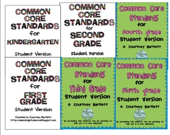 Common Core Standards for grades K-5