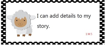 Common Core Standards posters - first grade - farm animals!