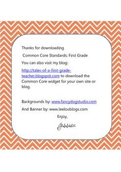 Common Core Standards:Grade 1{FREE}
