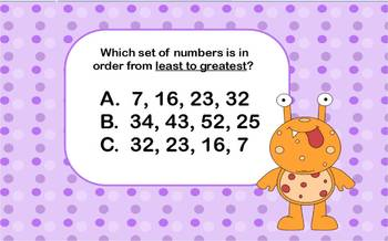 Common Core State Standard 1.NBT.3 Comparing Numbers