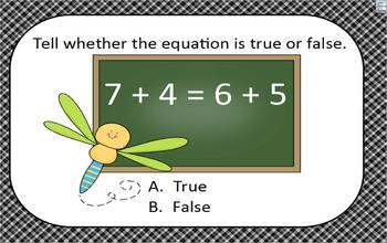 Common Core State Standard 1.OA.7 Understanding the Equal Sign