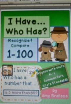 I Have Who Has Numbers 1 through 100 Place Value & Numeration Practice