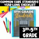 Common Core State Standard Checklist for Grades 3-5 - Teacher Organization Tool
