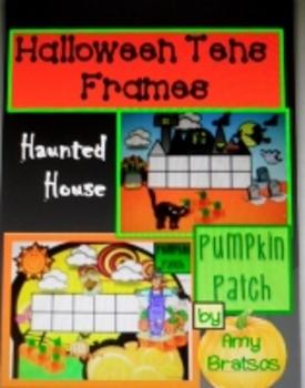 Halloween Haunted House Tens Frames Math Center Activity