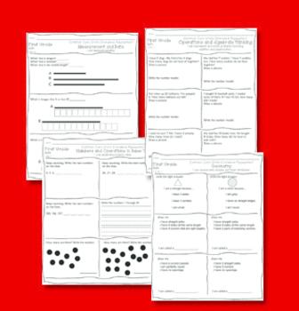 Common Core State Standard Math Assessment Bundle Kindergarten and First grade