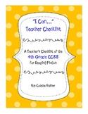 4th Grade CCSS Teacher Checklist - Reading Fiction
