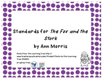 Common Core State Standard for Trophies The Fox and the Stork