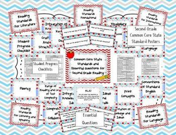 Common Core State Standards 2nd Grade Reading and Math Bundle