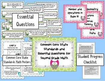 Common Core State Standards 2nd Grade Reading and Math Bundle-Owl Theme