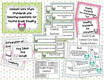 Common Core State Standards 2nd Grade Reading and Math Bun