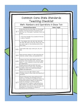 Common Core State Standards Binder Grade 2