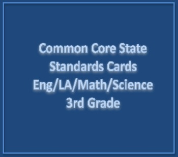 Common Core State Standards Cards 3rd Grade