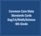 Common Core State Standards Cards 4th Grade