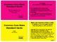 Common Core State Standards Cards E/LA & Math 6th Grade