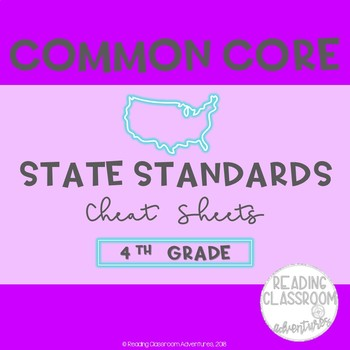 Common Core State Standards Cheat Sheets: 4th Grade