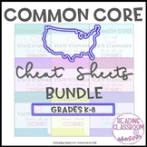 Common Core State Standards Cheat Sheets: K-8 {BUNDLE}