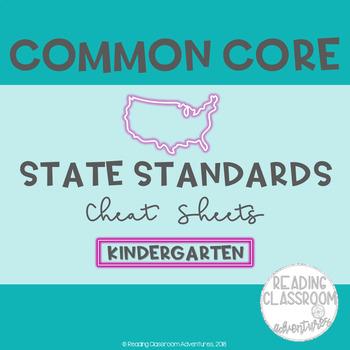 Common Core State Standards Cheat Sheets: Kindergarten