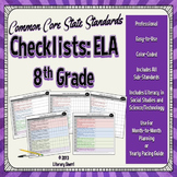 Common Core State Standards Checklist: 8th Grade ELA (Color-Coded)