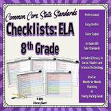 COMMON CORE STANDARDS: 8th Grade ELA Checklists (Color-Coded)