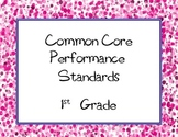 Common Core State Standards Checklist: First Grade ( 1st Grade )