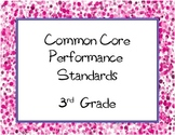 Common Core State Standards Checklist: Third Grade ( 3rd Grade )