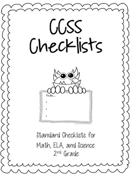 Common Core State Standards, Checklist for 2nd Grade