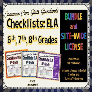 Common Core Standards Checklists: School-Wide License