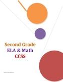Common Core Checklist Second Grade ELA and Math