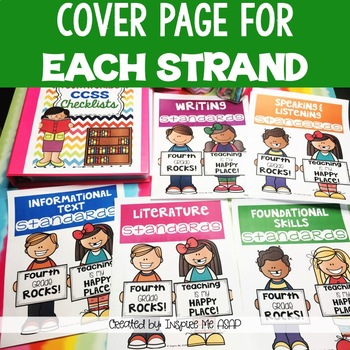 Common Core State Standards ELA Checklists for Fourth Grade