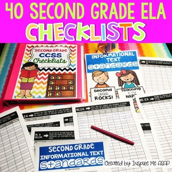 Common Core State Standards ELA Checklists for Second Grade