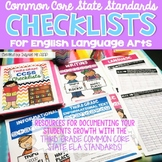 Common Core Standards Checklist 3rd Grade