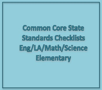 Common Core State Standards Elementary Checklist