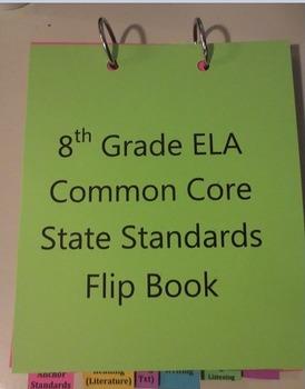 Common Core State Standards Flip Book 8th Grade English/Language Arts CCSS