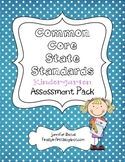 Common Core State Standards Kindergarten Assessment Checklists {editable}