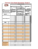 Common Core State Standards Kindergarten Gradebook for Math