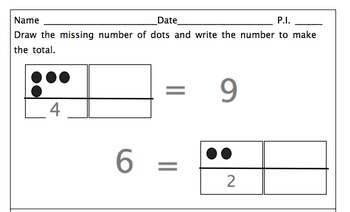 Common Core State Standards Kindergarten Math Worksheets